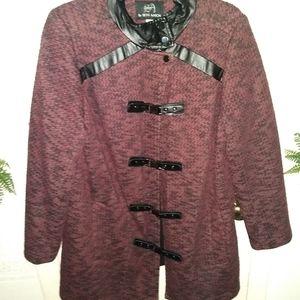 Seth Aaron 18W Purple and Black Toggle Jacket
